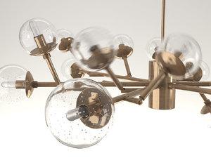 3D dallas chandelier