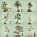 Stylised Dead Tree Collection