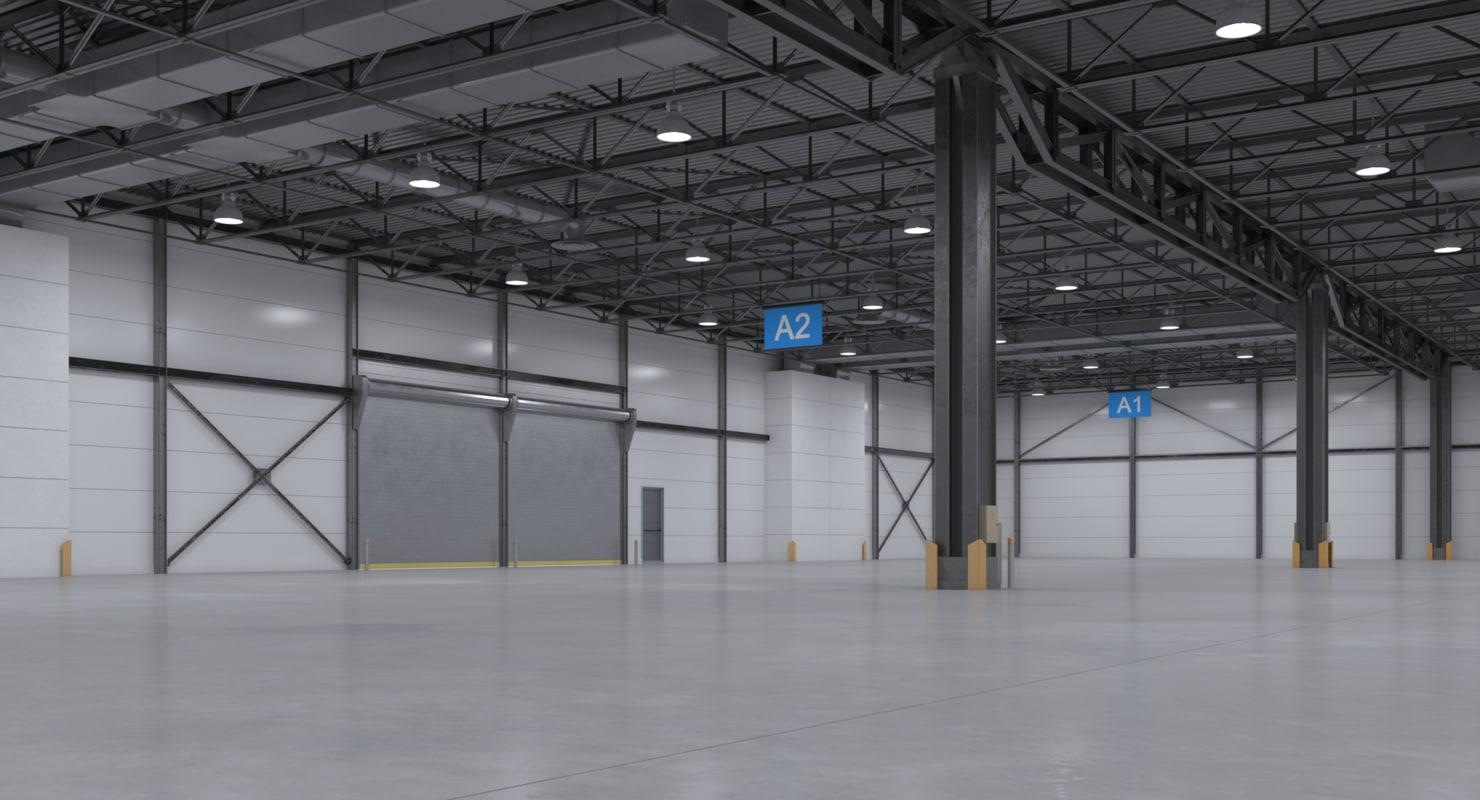 Incroyable Warehouse Interior 3D Model