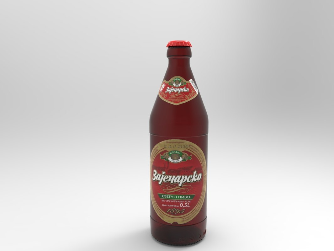 beer bottle zajecarsko 3D model