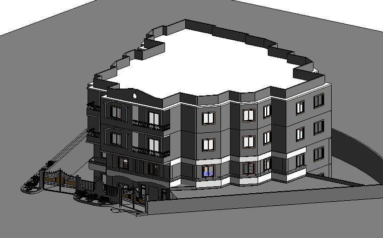 3D villa revit model