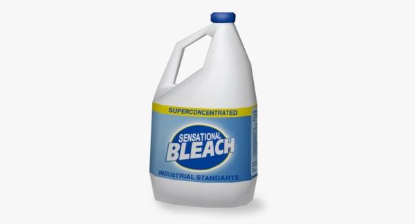 3D bottle bleach