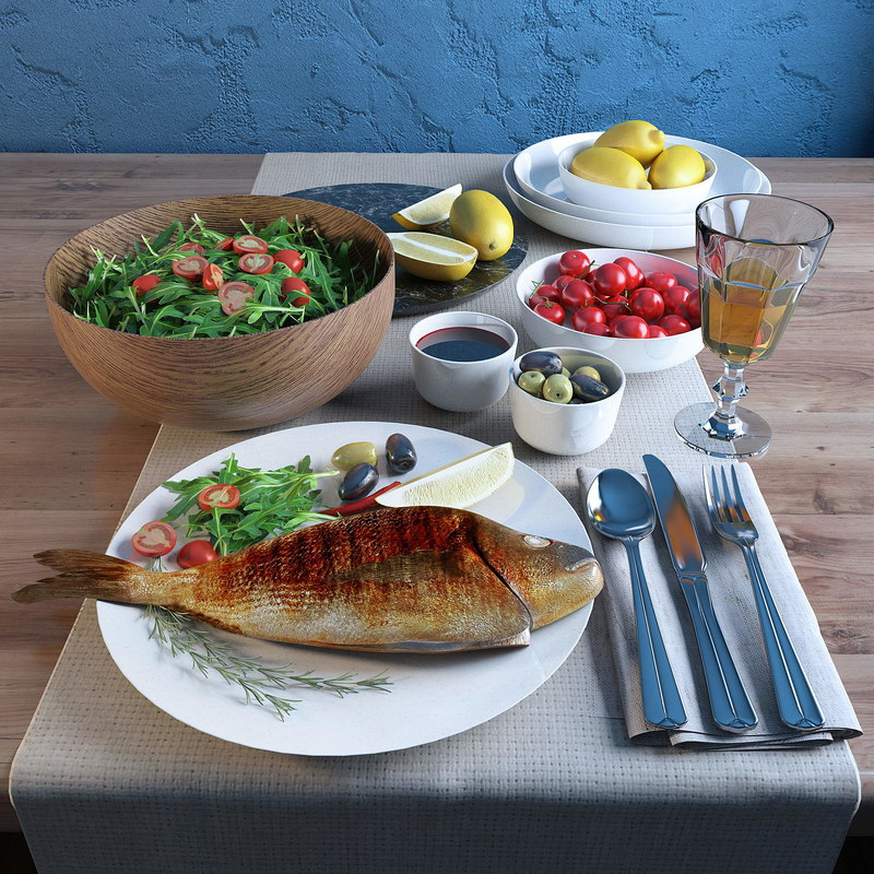 cooked fish 3D