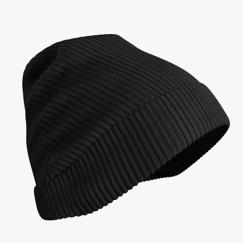 3D realistic winter hat