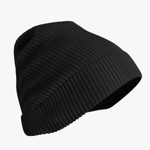 3D realistic winter hat