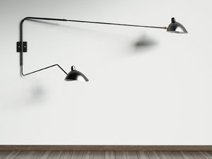 3D model arms wall lamp