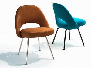 saarinen executive chair steel 3D