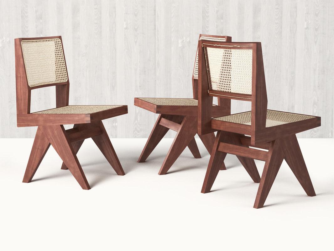3D chandigarh armless dining chair