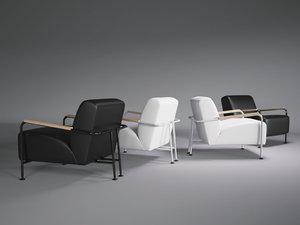 3D colubi armchair model