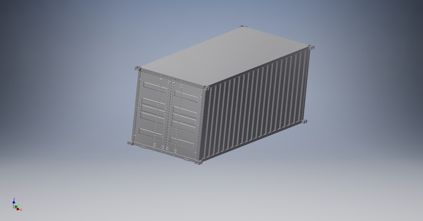 3D contenaire container industry model