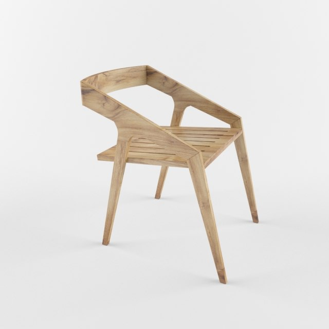 wooden chair model