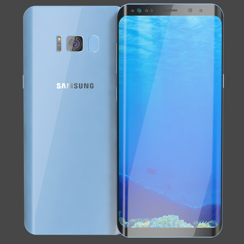 samsung galaxy s8 coral 3D model