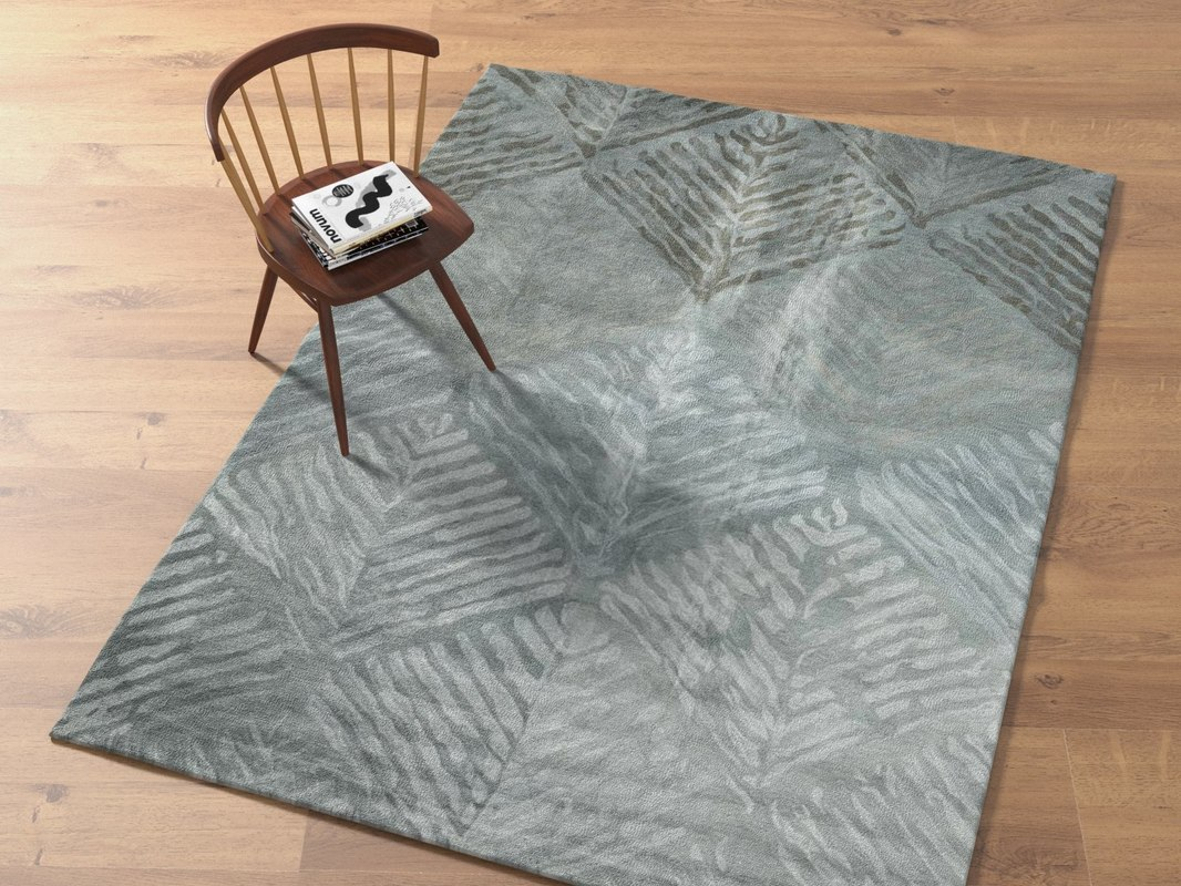nordic diamond wool rug 3D model