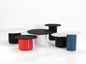 3D button tables b