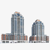 3D high-rise residential buildings model
