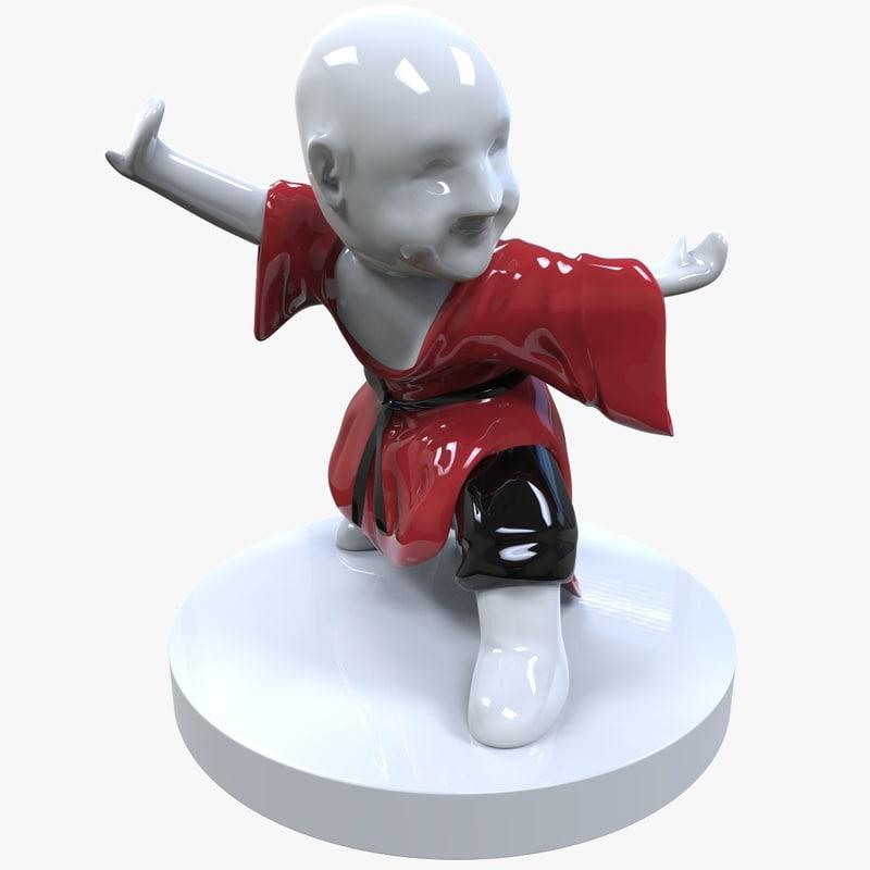figurine martial arts 3D model