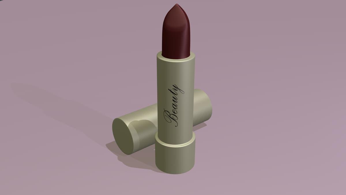 3D beauty lipstick model