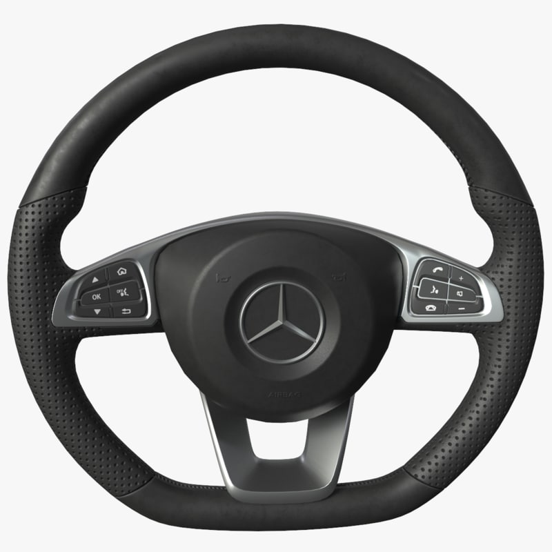 steering wheel mercedes c300 3D model