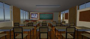 - class room polys 3D model