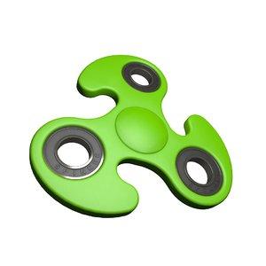 3D fidget spinner toy model