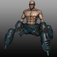 cyborg weapon robot 3D model