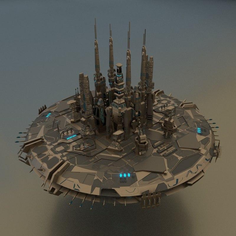 ship mothership 3D model