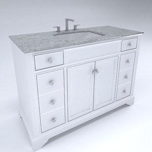 cabinet vanity 3D