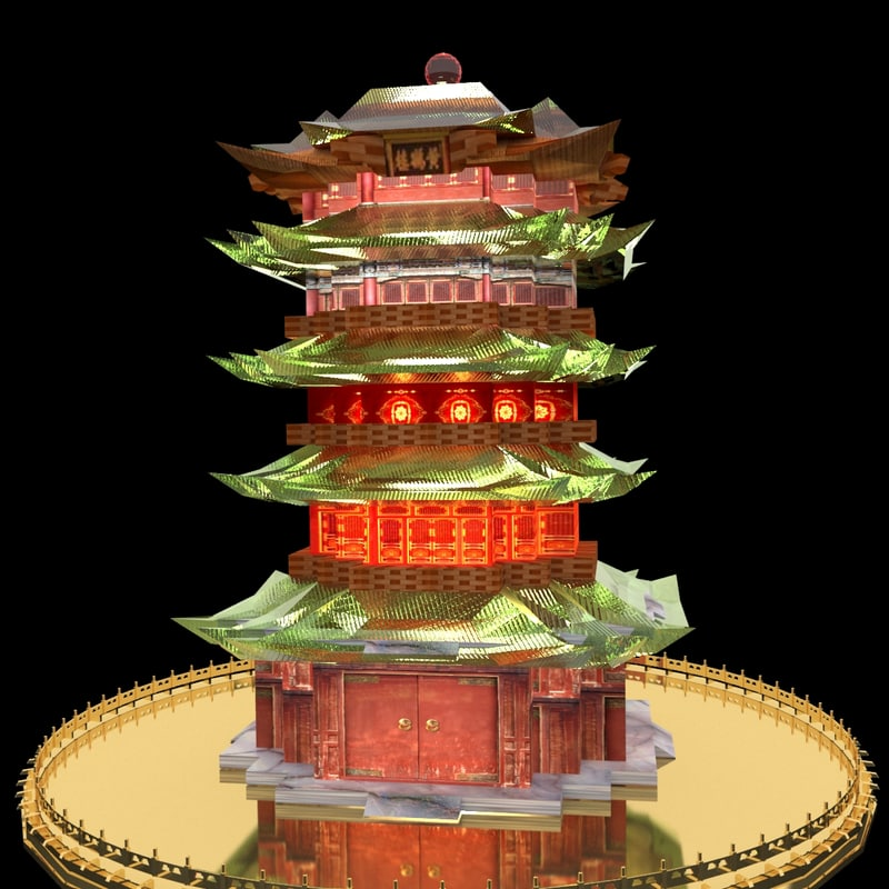 chinese tower model