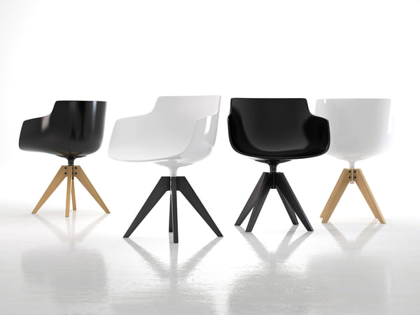 3D flow armchair vn 4-legged