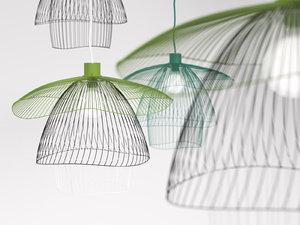 3D model papillon forestier