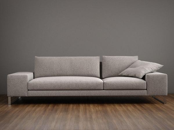 exclusif 2 sofa l 3D model