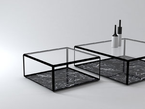 45° coffee table 3D