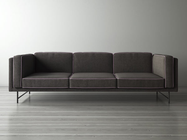 3D model bank sofa 3 seater