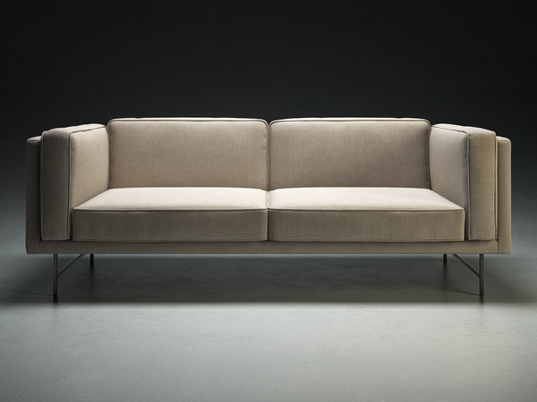 bank sofa 2 seater 3D model