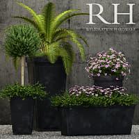 3D restoration hardware planters