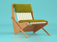 boomerang chair 3D