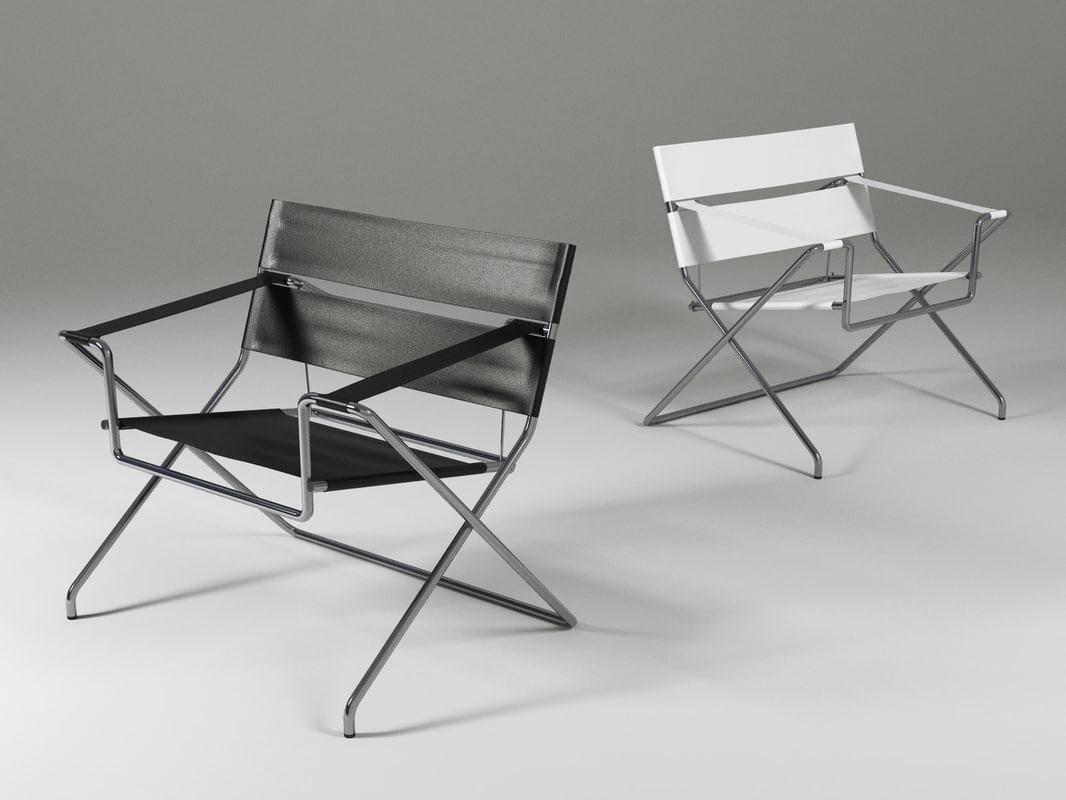 d4 bauhaus chair 3D