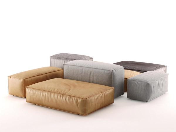3D model extrasoft sofa