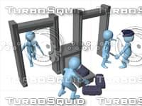 metal detector 3D model