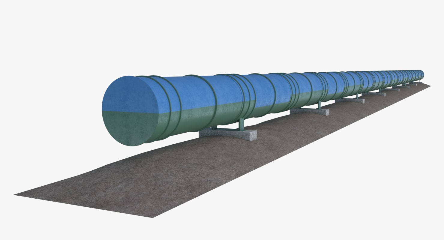 3D oil natural gas pipeline
