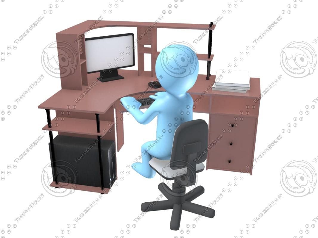 3D computer user