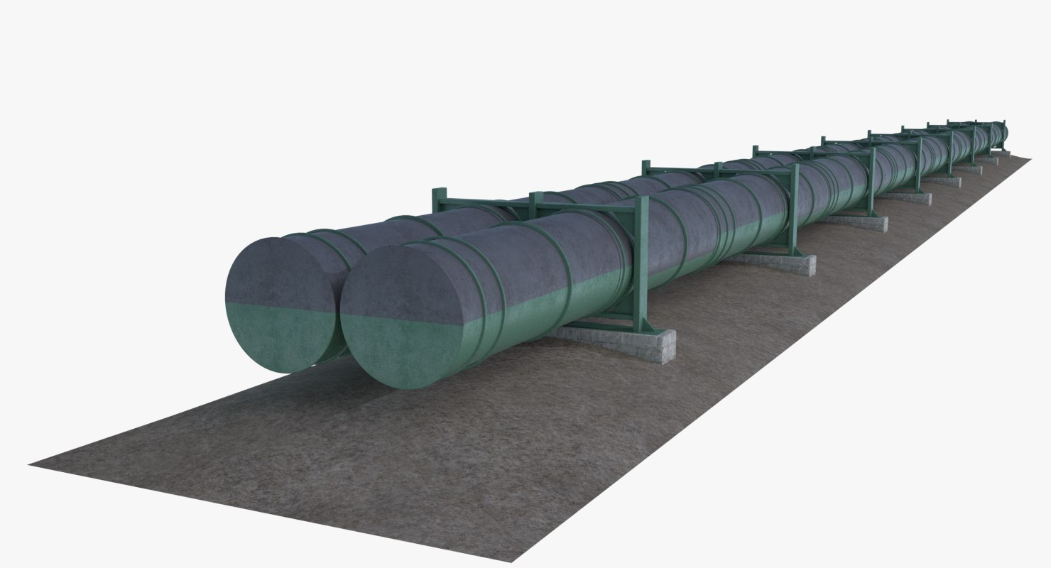 3D oil natural gas pipeline model