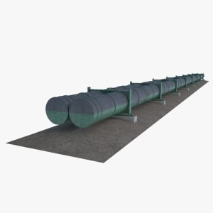 3D oil natural gas pipeline model