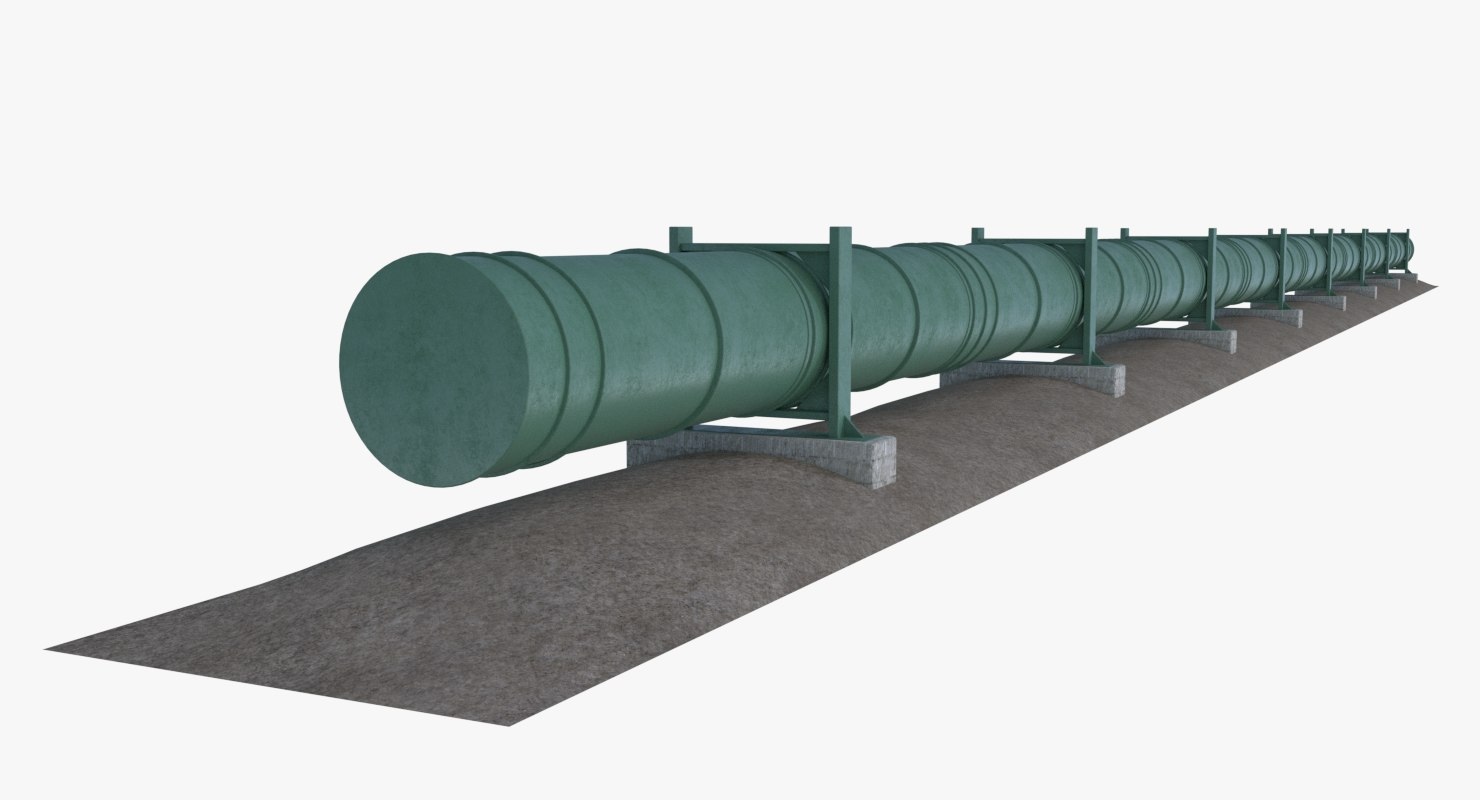 3D model oil natural gas pipeline