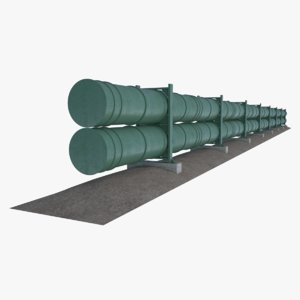 oil natural gas pipeline 3D model
