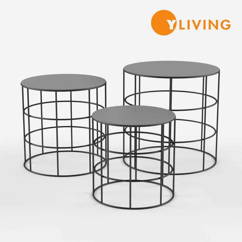 3D reton coffee table model