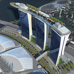 3D model marina bay sands mbs