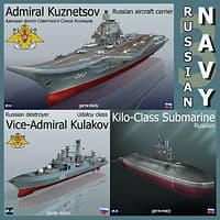 russian navy ship 3D