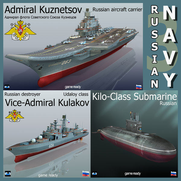 russian navy ship 3D