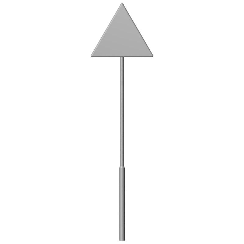 sign uvs 3D model